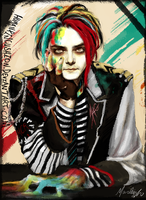 Gerard Way by HumanPinCushion