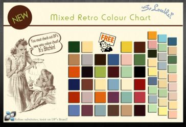 Retro Colour Chart by DigitalPhenom