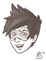 Overwatch - Tracer by Pikas96