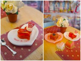 Strawberry jelly and Valentines by LittlestSweetShop