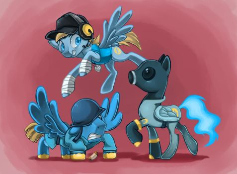 pony tf2: Offense ponies by chinalover551989