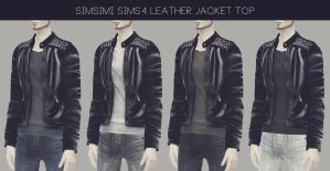 [MMD] Male Leather Jacket Top (+Download) by AppleWaterSugar