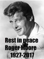 Roger Moore (1927-2017) by EgonEagle