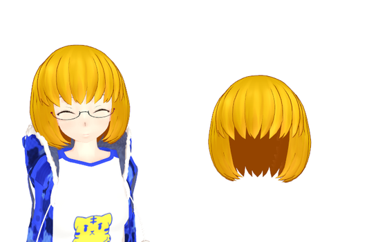 MMD Blonde short hair Download by 9844