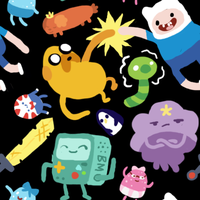 (free) Adventure Time Black Tile by Sharkysaur