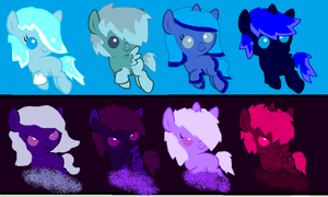 Water/Ice and Darkness Adoptables :ONE LEFT: by ShinySmeargle