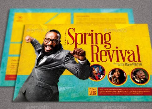 Spring Revival Church Flyer Template by loswl