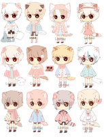ADOPTABLES SET PRICE [OPEN] by lovebae