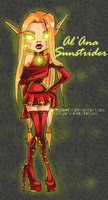 Monster High OC- Al'Ana Sunstrider by ShiChel