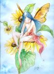 Sunflower's fairy by sanguigna