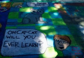 Cat-Cat Chalk-Chalk by scripturemonkey