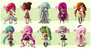 Cutie Girls - Adoptable Batch [[CLOSED]] by MissElysium