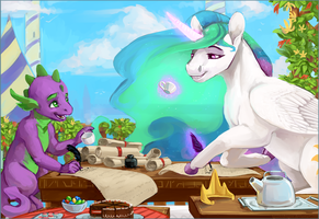 Tea Time with the Princess by Iguanodragon