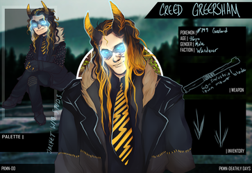 [PKMN-DD] Creed Greersham by AlaskaAhoy