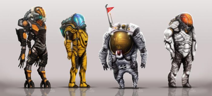 The astronauts by Dogsfather