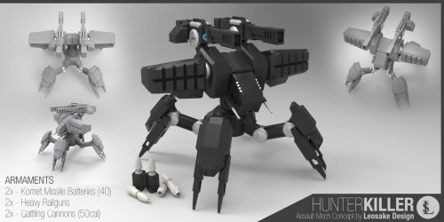 Behemoth Hunter-Killer Mech by gtgv