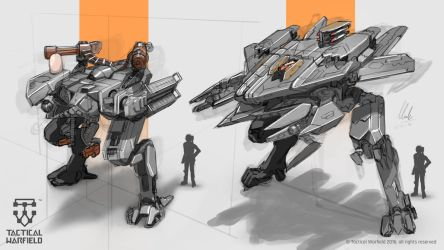 Tactical Warfield - Mech sketches #1 by Loone-Wolf