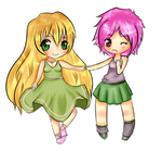Girls Chibi COMMISSION by Yas-mi-ne