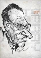Larry King - Caricature by libran005