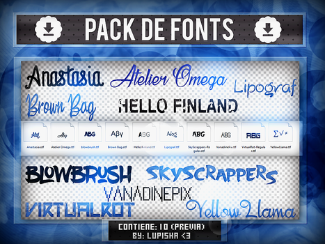 +FONTS PACK 4 by LupishaGreyDesigns