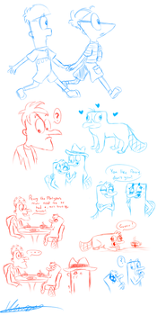 Mainly Platypus sketches by tory-the-fuzzball