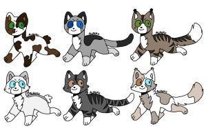 Cat/Warrior Cats Adopts!!! CLOSED (NOW FREE) by Petvet2004