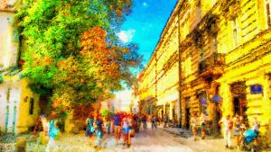 Colours of old town 10 by gniewomirart