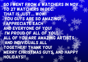To my amazing watchers!! by Soshadilver