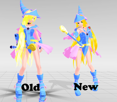 Dark Magician Girl WIP: Texture Update by Jaimelynh