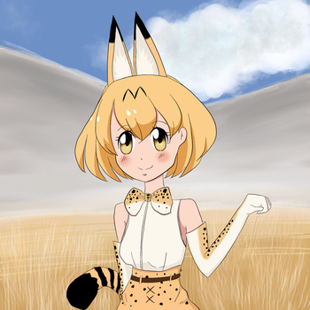 Serval - Kemono Friends by Integra4Hell