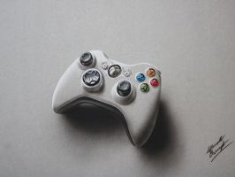 Controller XBOX Joypad DRAWING Marcello Barenghi by marcellobarenghi