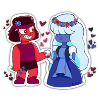 Ruby And Sapphire by Ao-No-Lupus