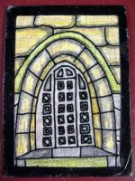 Stone Doorway ATC by mintdawn