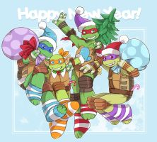 Turtles New Year! by LinART