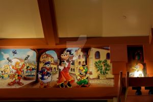 Three Caballeros Wall At World of Disney by DC-Mini