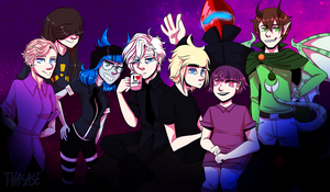 Whole Weird Discord Squad by Thasase1002