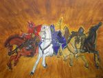 The Four Horsemen of the Apocalypse by hatoola13