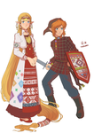 Udmurt Zelda and Link by Autumn-Sacura