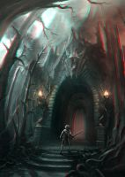 Fire Cave Entrance 3-D conversion by MVRamsey