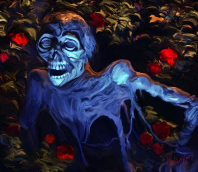 Roses are Red, Zombies are Blue by OrestesGraphics