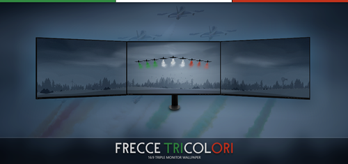 Frecce Tricolori - Triple Wallpaper by d3stroy