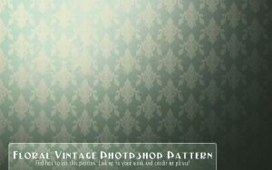 Vintage Floral Wallpaper pattern by EmZ565