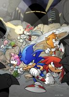 Sonic The Comic 254 Cover by AlkalineAzel