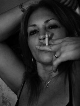 Woman and Cigarette 2 by Noe-Me
