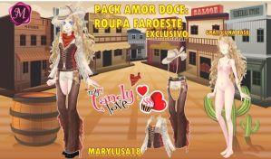 PACK AMORDOCE:ROPA FAROESTE by Marylusa18