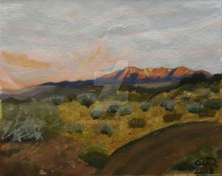 Landscape in Oils by MarieRiver