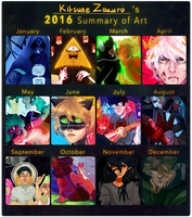 2016 Summary of Art by KitsuneZakuro