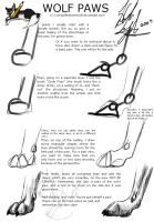 A 'how to' on wolf paws... by SongOfTheLoneWolf