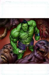 Hip Hop Hulk Montsers Unleashed color by BroHawk
