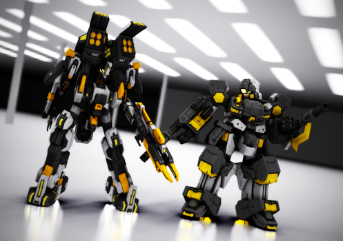 Giganberg and Flash Bomber | Approx. Colour Scheme by xrunpet